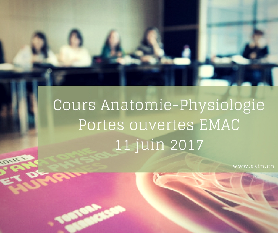 Cours anatomie physiologie à Lausanne EMAC