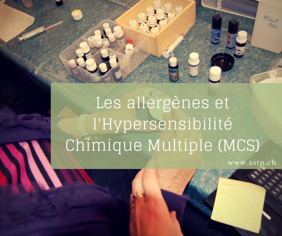 Les allergènes et l'hypersensibilité chimique multiple MCS