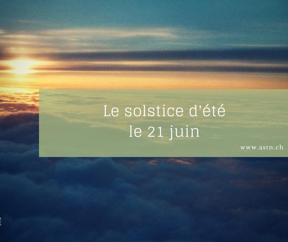 Solstice d'été 21 juin 2017