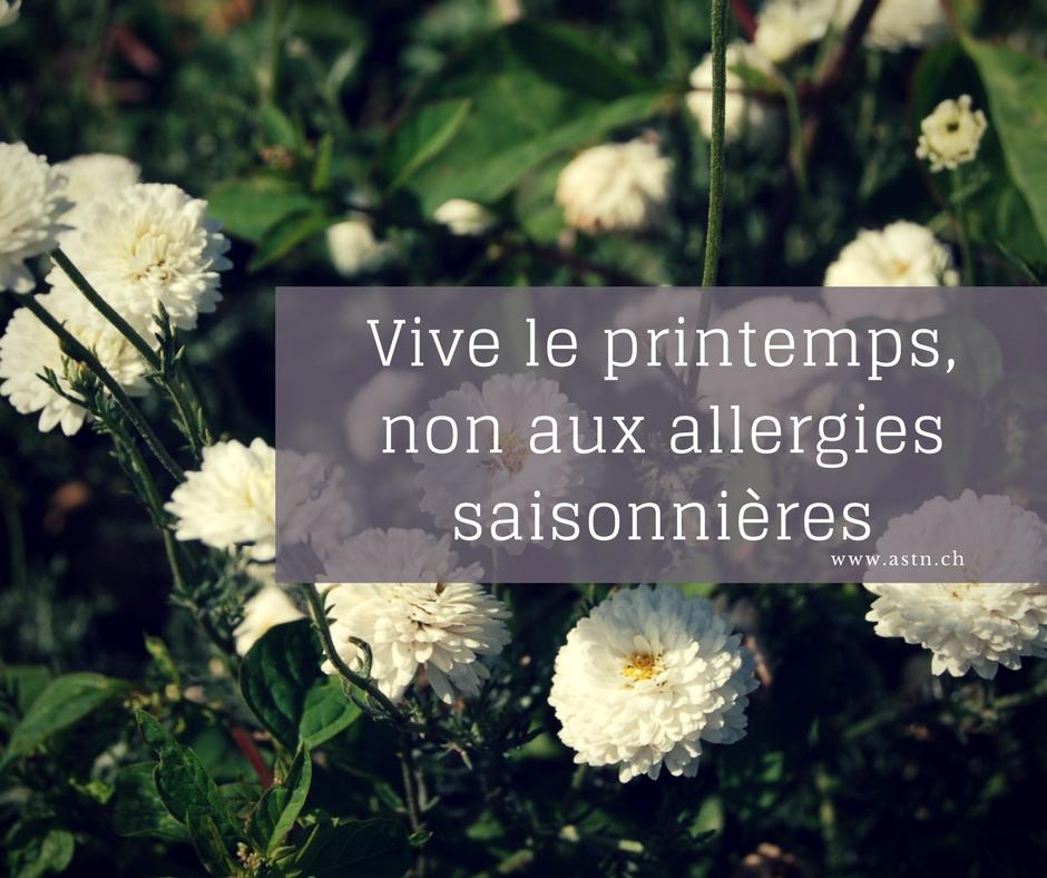 Printemps : non aux allergies saisonnières