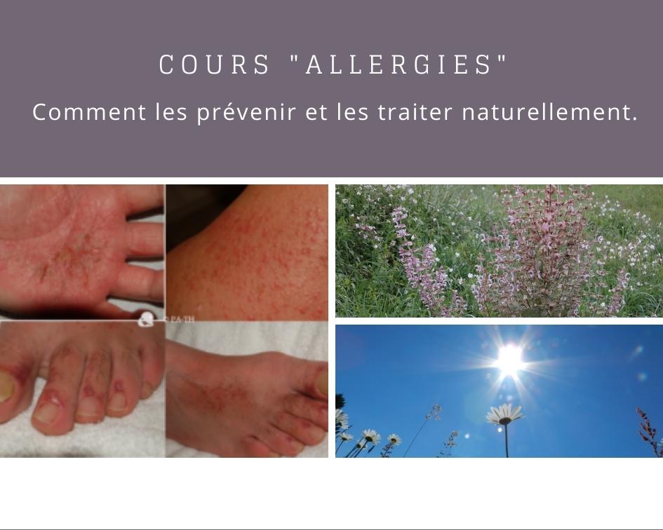 Cours pour prévenir et traiter les allergies naturellement