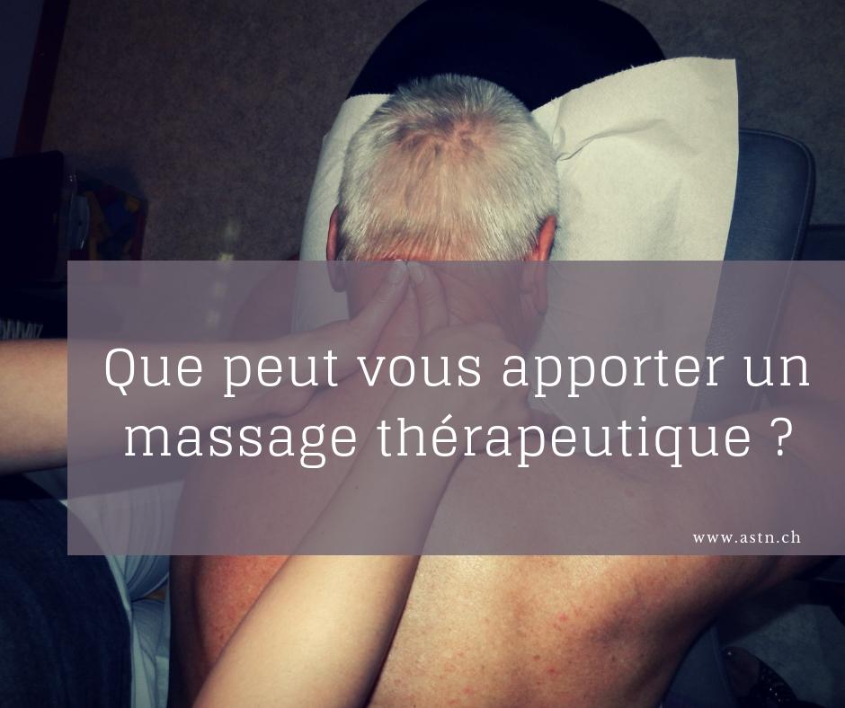 Le massage thérapeutique rééquilibrant