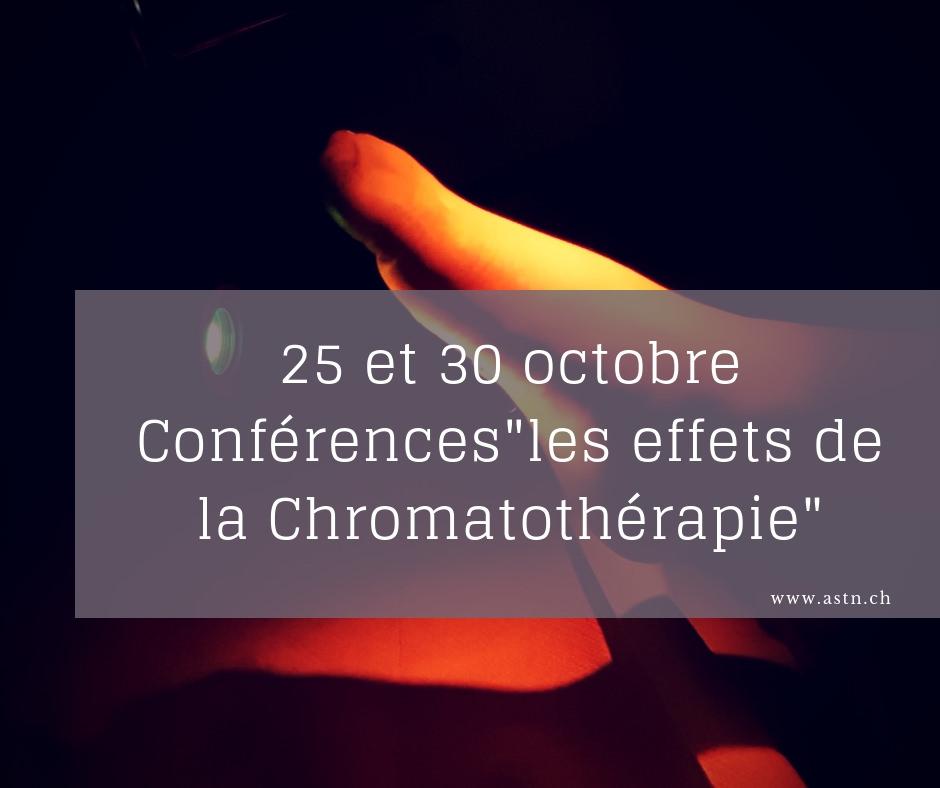 Les effets de la chromatothérapie - Conférence à Genève