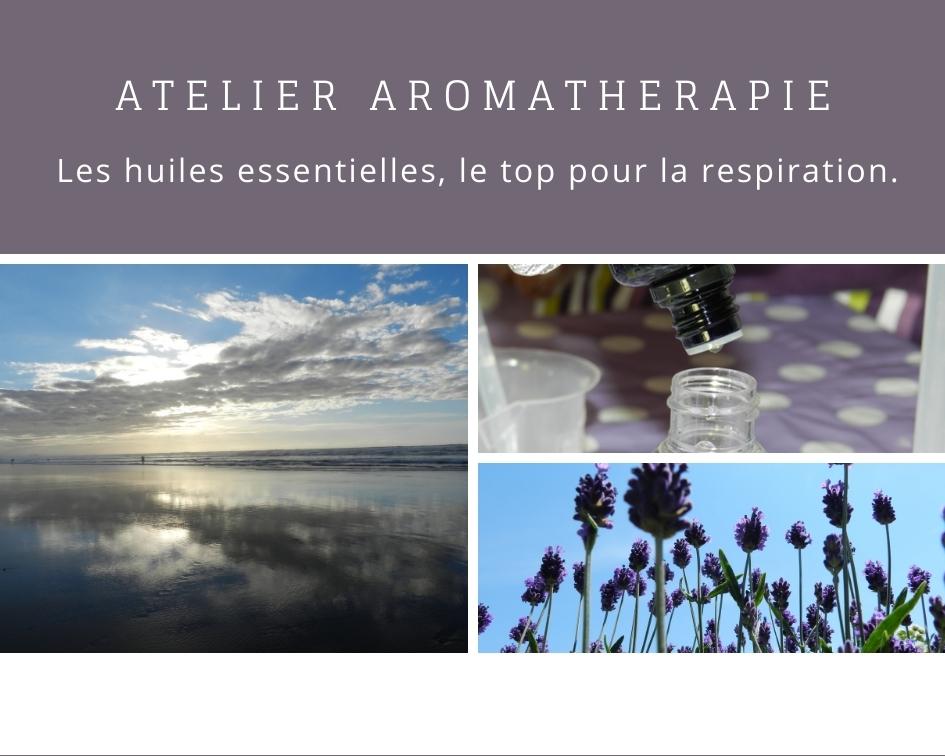 Atelier cours aromathérapie : les huiles essentielles pour la respiration