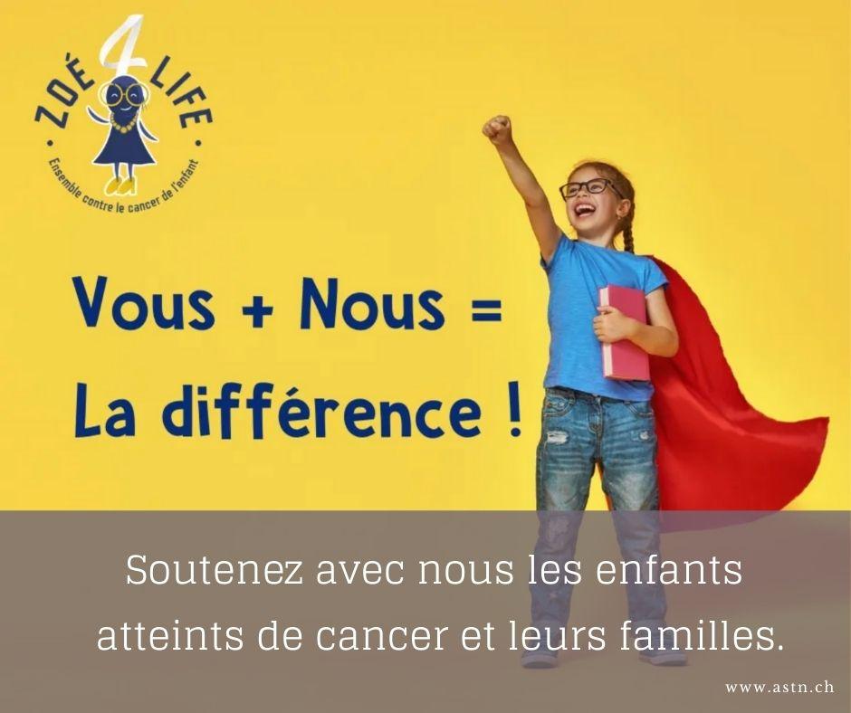Zoe4life soutient les enfants atteints de cancer